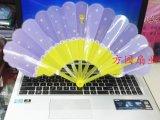 塑料卡通701-4大七折花边扇子2016