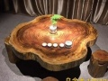乌金木圆盘现货非洲实木大板红木家具主管桌茶桌茶桌书桌