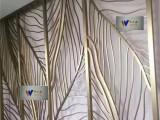 不锈钢屏风隔断中式镂空雕花酒店花格屏风现代客厅玄关