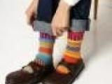 9173 民族风袜子提花图腾复古袜子新潮男袜子厂家直销批发