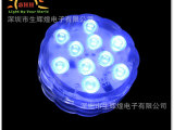 厂家批发LED遥控蜡烛灯,10灯七彩潜水灯 交货快,专业生产