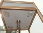 钛合金精品六角电动旋转带灯门展示柜槽板展示架柜台