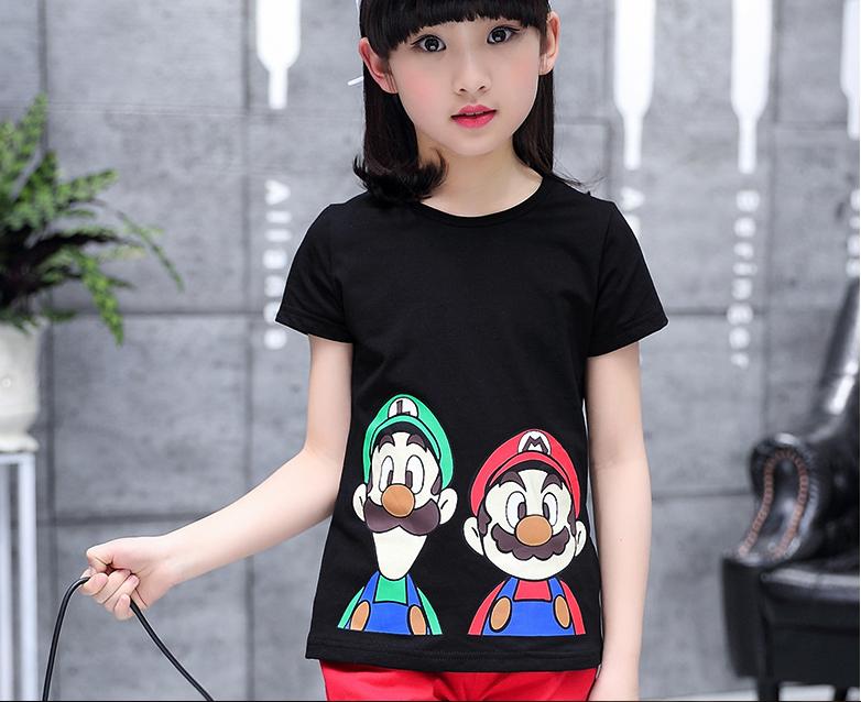 韩版新款卡通童装短袖T恤厂家批发