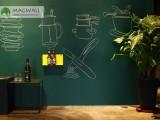 Magwall磁善家磁性绿板磁性吸附无钉免胶儿童磁性写字板