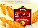 正品韩国进口零食90g每盒乐天牌树叶饼干内含独立小包装