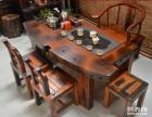 秦皇岛市老船木茶桌椅子仿古茶台实木沙发茶几餐桌办公桌家具案台
