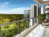 20米长阳台,朝南91平精装三房得141平融创观澜湖公园