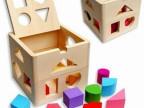 儿童早教益智13孔智力盒形状配对木制玩具批发