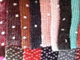 供应 彩色毛球提花针织面料 仿兔毛毛线布 毛衣面料