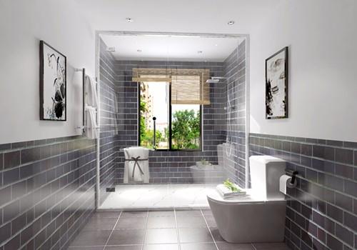 浴室:主卫长方形淋浴房作为卫生间的干湿分离,宽敞的淋浴房用起来更舒服.jpg