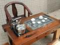 泰州老船木茶桌批发客厅家具沉船木茶台实木功夫茶几