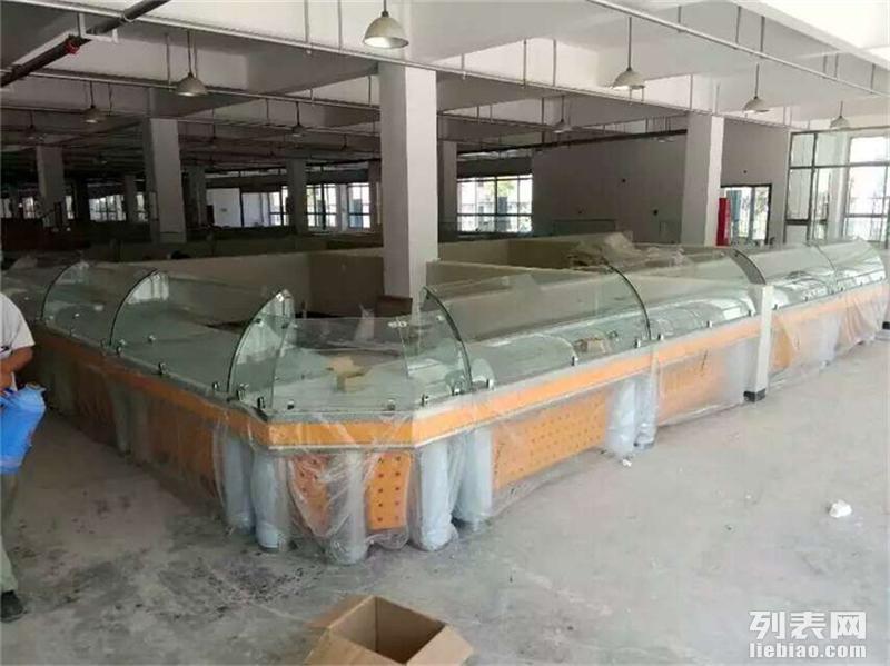 潍坊专业定做超市风幕柜水果保鲜柜环岛立风柜的厂家