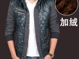 2014新款男休闲夹克 男式修身立领加厚收腰夹克 男茄克上装外套