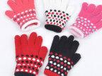 厂家低价批发手套 儿童毛线手套 五指手套 来样订做 外贸手套