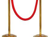 彩塘特价挂绳金色围栏杆 金色一米线礼宾柱 钛金栏杆座 一米线