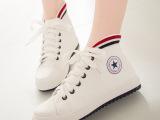 厂家直销 平底高帮帆布鞋 松糕韩版潮休闲舒适板鞋女鞋 一件代发
