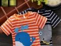 在哪里批发厂家童装便宜童装T恤 圆领短袖 低价处理库存几元地滩甩