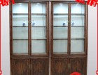 榆木中式玻璃展示柜