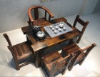 老船木家具 龙骨海螺孔茶台茶椅中山船木家具工厂定做