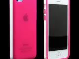 iphone5C手机壳 双色TPU甜美手机套 苹果5透明磨砂保护