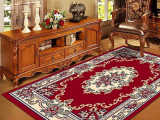 朗圣地毯厂家 高档手工地毯 中式古典红色地毯 客厅卧室茶几餐厅