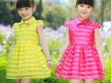 女童夏款2014新款连衣裙韩版短袖欧根纱公主裙 厂家直批