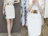 欧洲站2015夏装新款V领蕾丝欧根纱连衣裙夏  雪纺包臀一步裙