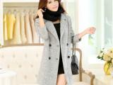 韩国版秋冬正品新款毛呢外套妮子大衣女大码厚双排扣
