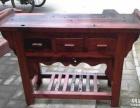 大庆市老船木茶桌椅子仿古茶台实木沙发茶几餐桌办公桌家具博古架