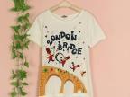 riman批发 厂家直销日系甜美贴布刺绣少女装女短袖T恤