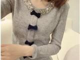 2014秋冬新款正品阿依莲时尚女装可爱甜美学生装宽松套头毛针织衫