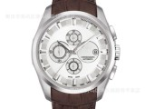 供应高档瑞士手表 库图系列经典休闲男士手表 石英机械皮带钢带表