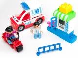 益智儿童女孩玩具乐高式拼插拼装塑料玩具女孩过家家积木家园