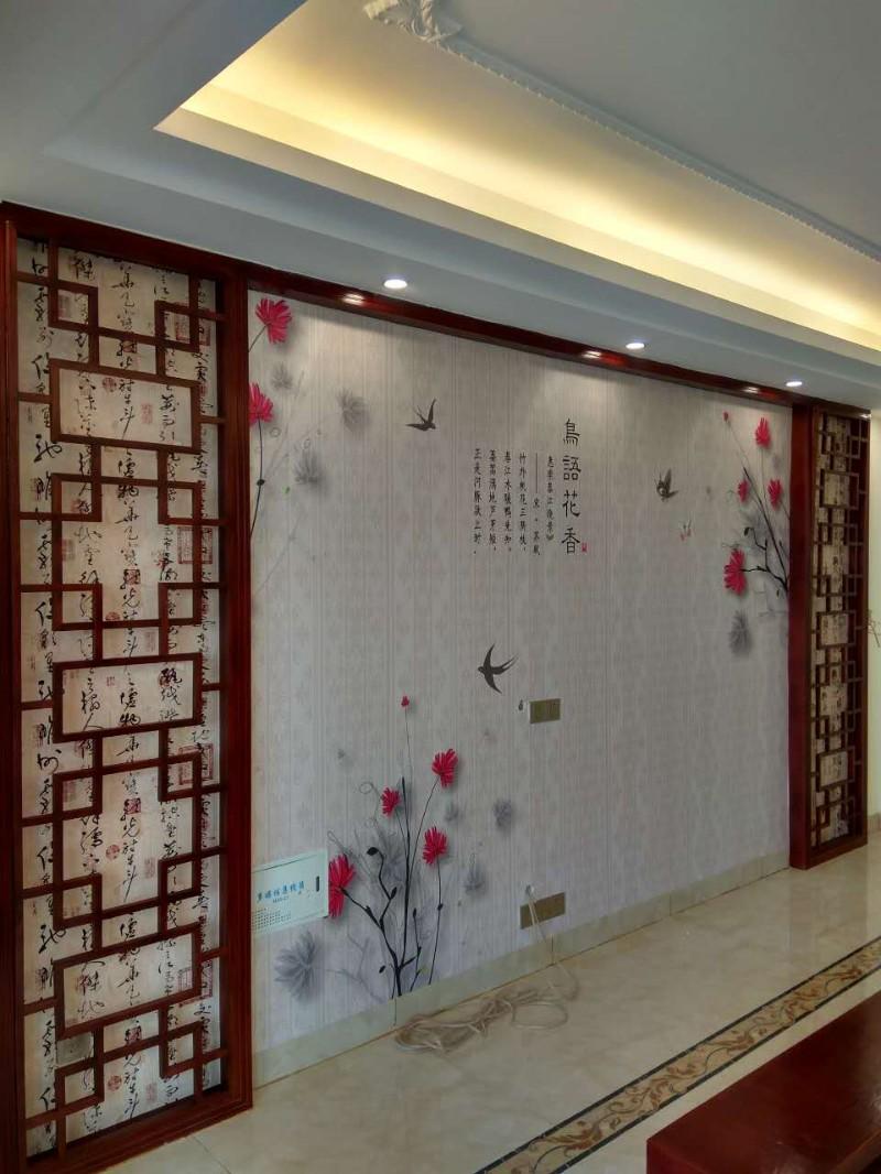 儋州贴墙纸墙布壁画背景墙硅藻泥