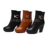 【新款】中筒靴春秋季中靴高跟厚底粗跟马丁