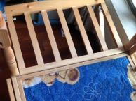 商场购买品牌全新未使用过实木婴儿床转让无甲醛