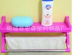 厂家直销 浴室吸盘多功能置物架 吸盘双杆毛巾平板架吸盘收纳架