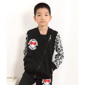 厂家直销 2014秋季新款外贸童装 斜拉链太阳笑脸 儿童运动套装