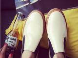欧洲站2014秋季新款韩版懒人鞋英伦真皮女鞋圆头低跟单鞋一件代发