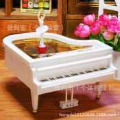 YL2012跳舞人钢琴 跳芭蕾舞旋转钢琴音乐盒 八音琴圣诞节情人礼物