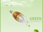 厂家直销 节能超亮LED车铝蜡烛灯 E14螺口拉尾LED蜡烛灯 3W