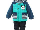 正版现货新款棉衣字母秋冬季110cm(1-4岁)两件套套装童装厂
