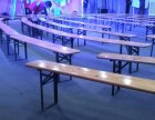 活动演出长条椅子出租,实木长条凳子租赁,折叠凳子出租