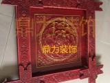 古建寺庙吊顶材料PU木纹贴金产品组合