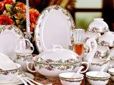 骨瓷餐具套装56头陶瓷碗碟批发 景德镇陶瓷**餐具碗盘子