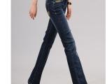 外贸女装,微喇牛仔裤批发,免费代发货女微喇牛仔裤