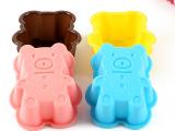 新品 硅胶小熊蛋糕模具 马芬杯布丁果冻模具 手工肥皂模具 批发