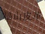 凌型仿绣花纹人造皮革 装饰人造皮革 PVC装饰皮革 FS506C