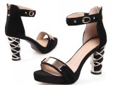 厂家直销女式欧美凉鞋真皮罗马鞋镂空真皮女鞋一件代批