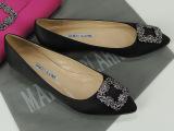 高版本M.R.V.B鞋雪花扣尖头平底女单鞋 mb水钻方扣平跟女鞋